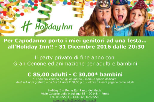 capodanno holiday inn rome