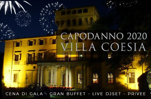 Capodanno 2020 Villa Coesia: Cena Servita - Buffet - Dj Set